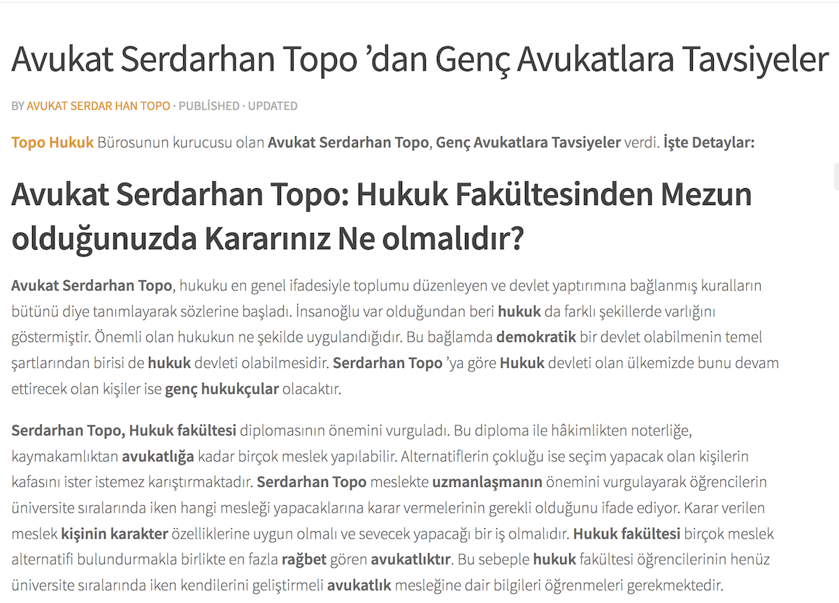 Avukat Serdarhan Topo